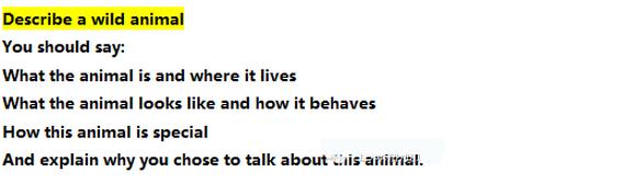 雅思口语part2 范文:animal(考拉熊)